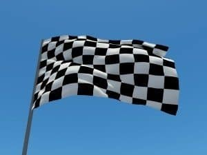 Speed Loan Finance chequered flag waving speed loans
