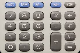 Car Loan Calculators calculator keypad close up image