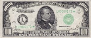1000 pound loans today one thousand dollar note