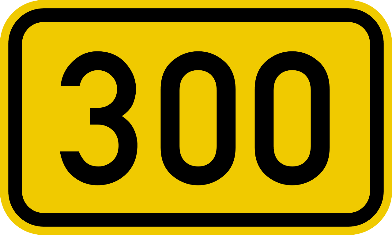 borrow 300 pounds yellow and black sign £300