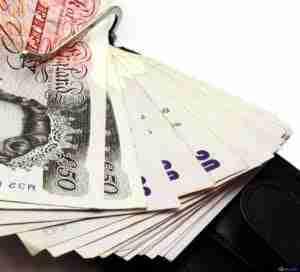 fan of cash notes