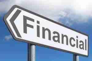 financial loans road sign