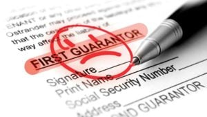 guarantor loans uk application form ready for signature