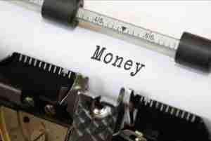 loan bad credit online money types on typewriter