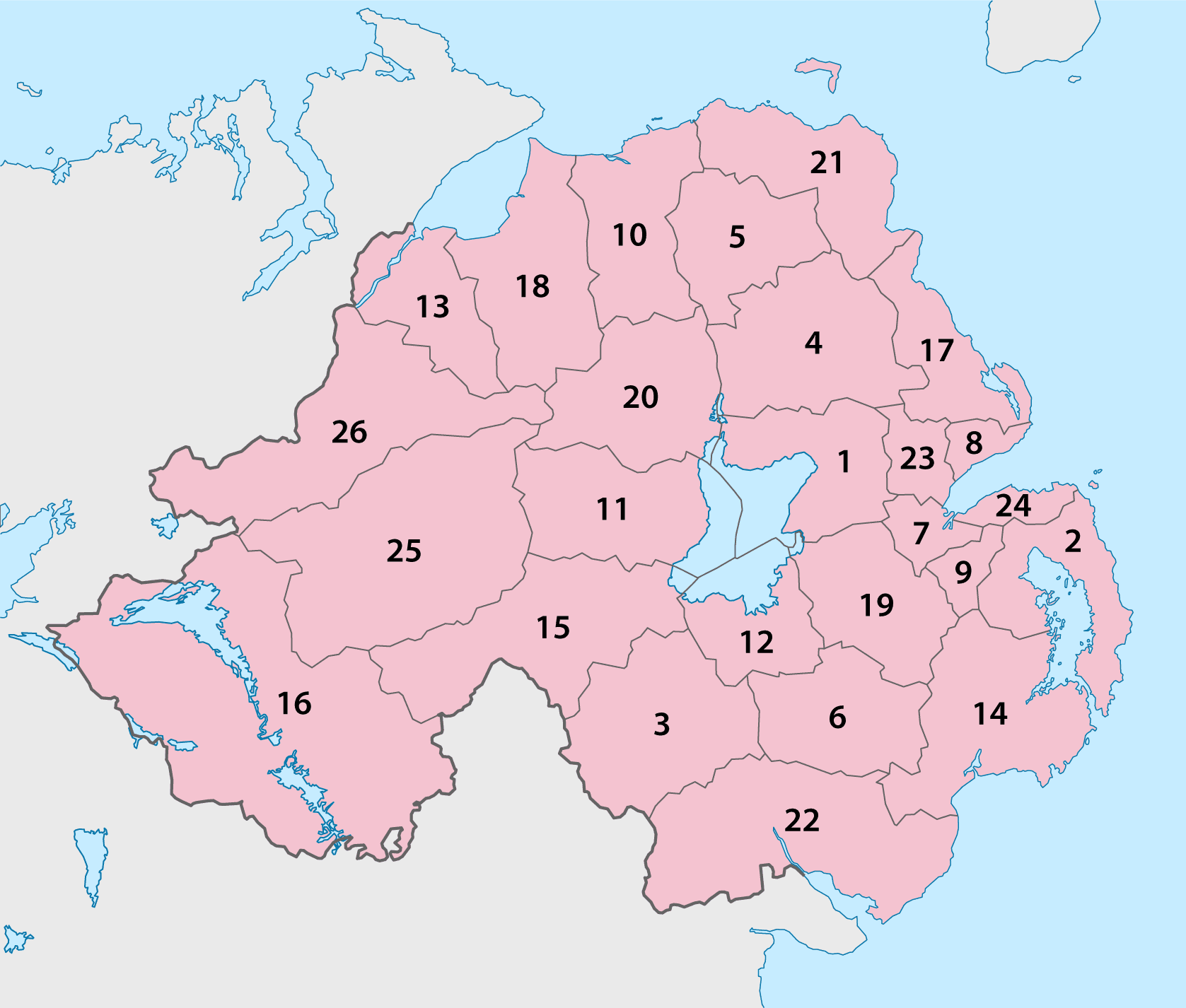 northern ireland payday loans map of local government council areas