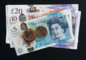 small fast cash loans british sterling pounds currency notes and coins