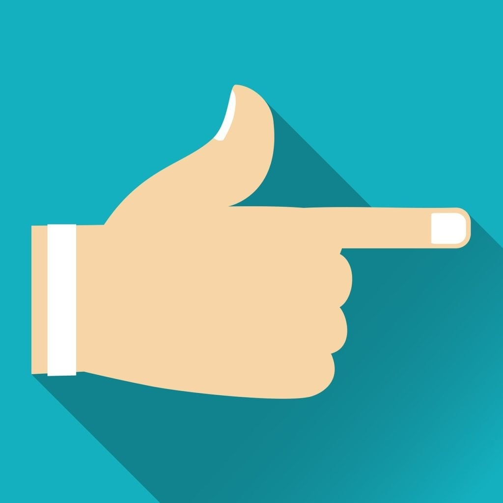 direct lender no broker hand with finger pointing