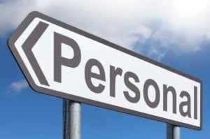 personal loans road sign