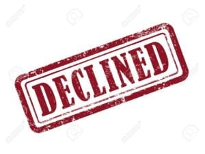 loan declined when can I apply again approved declined rubber stamp red