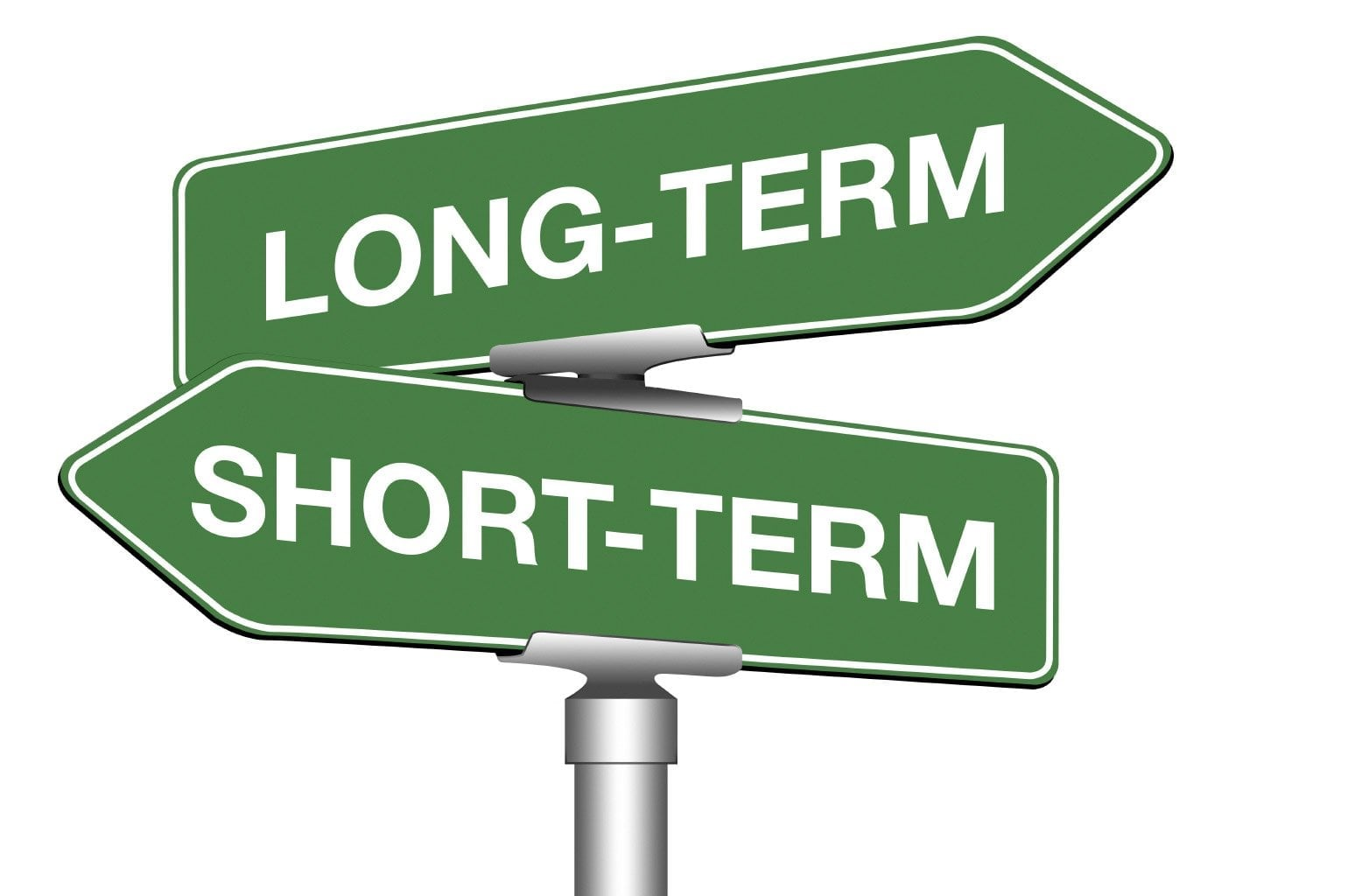 long term loans road sign
