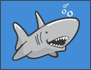 loan sharks online lenders bad credit cartoon shark