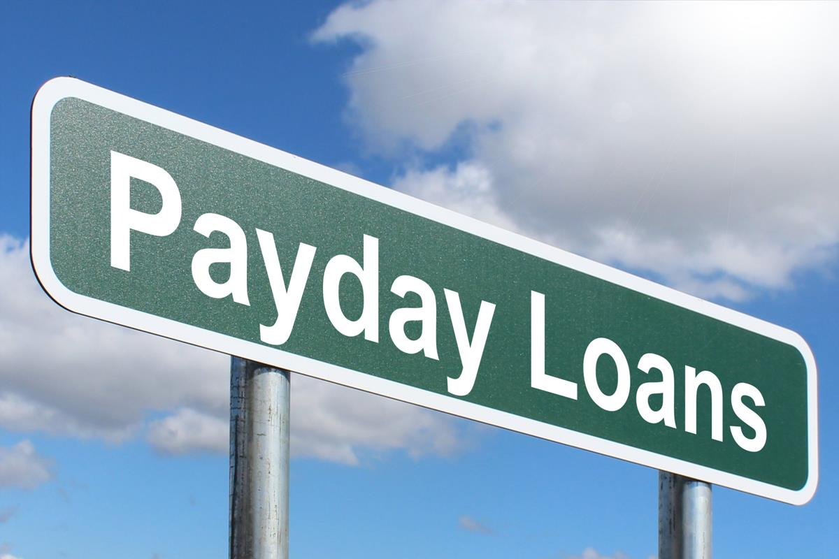 payday loans direct lender bad credit road sign
