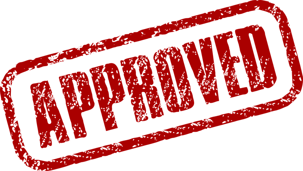 approved red stamp mark approved loans bad credit
