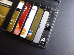 2500 Credit Card lots in a wallet