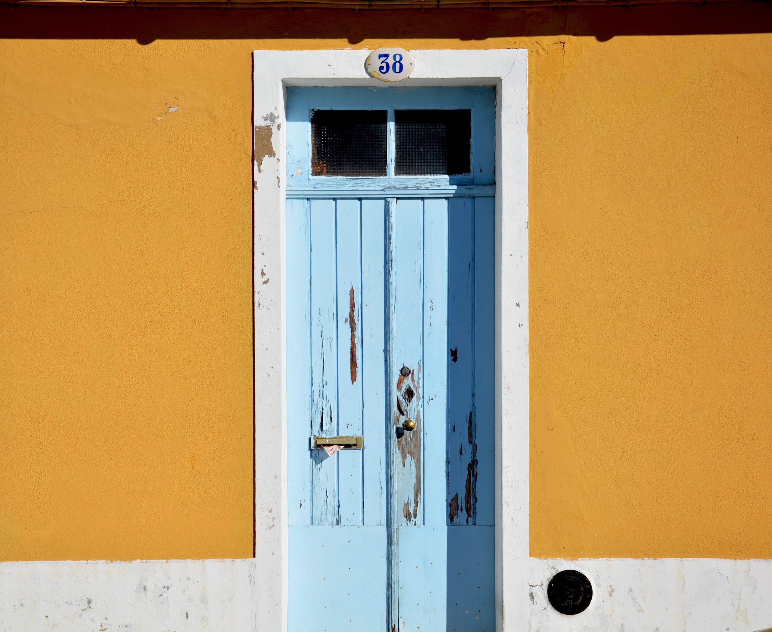 continental blue front door