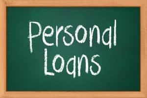 Approved Loans Bad Credit personal loans written on blackboard