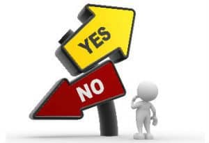 Check If You Are Eligible To Apply For A New Loan Here man looking at yes no sign