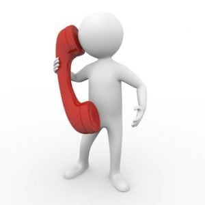 Debt consolidation loans no guarantor man on a red phone