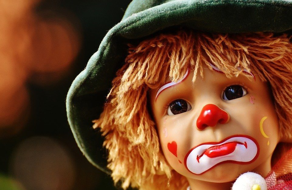 I have bad credit and need a loan please help sad clown face doll