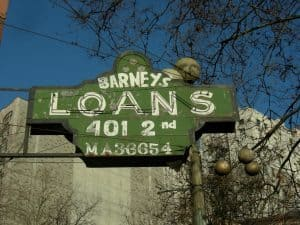 3 Month Loans direct lenders Seattle Barneys Loans sign