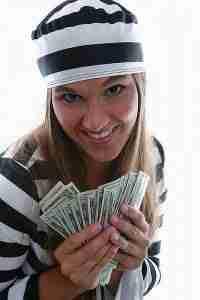 alternatives to payday loans girl dressed as prisoner