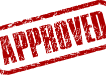 bad credit guarantor loan approved red stamp