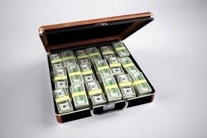 borrow small amount of money suitcase full of cash