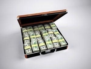 money suitcase full of cash