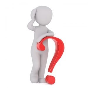 dealing with debt leaning on a red question mark