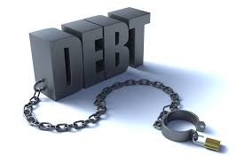 debt consolidation loan bad credit the word debt with chain attached