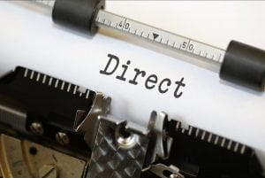 Direct payday lenders loans old typewriter spelling word direct