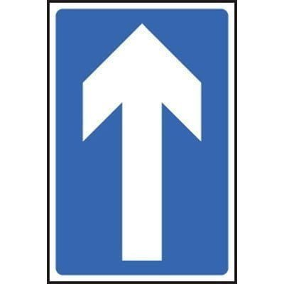 direct loans uk road sign directly straight ahead