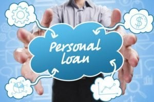how can I get a personal loan with bad credit man holding sign
