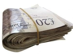 bundle of cash notes