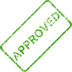 how to be approved for a loan green approved stamp