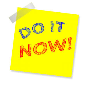 do it now yellow post it