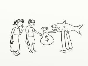 Loan Shark Needed ASAP loan shark landing over bag of cash I need a loan shark asap