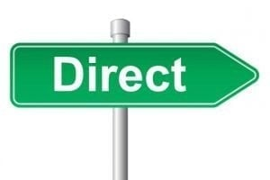 loans direct uk green white direction sign