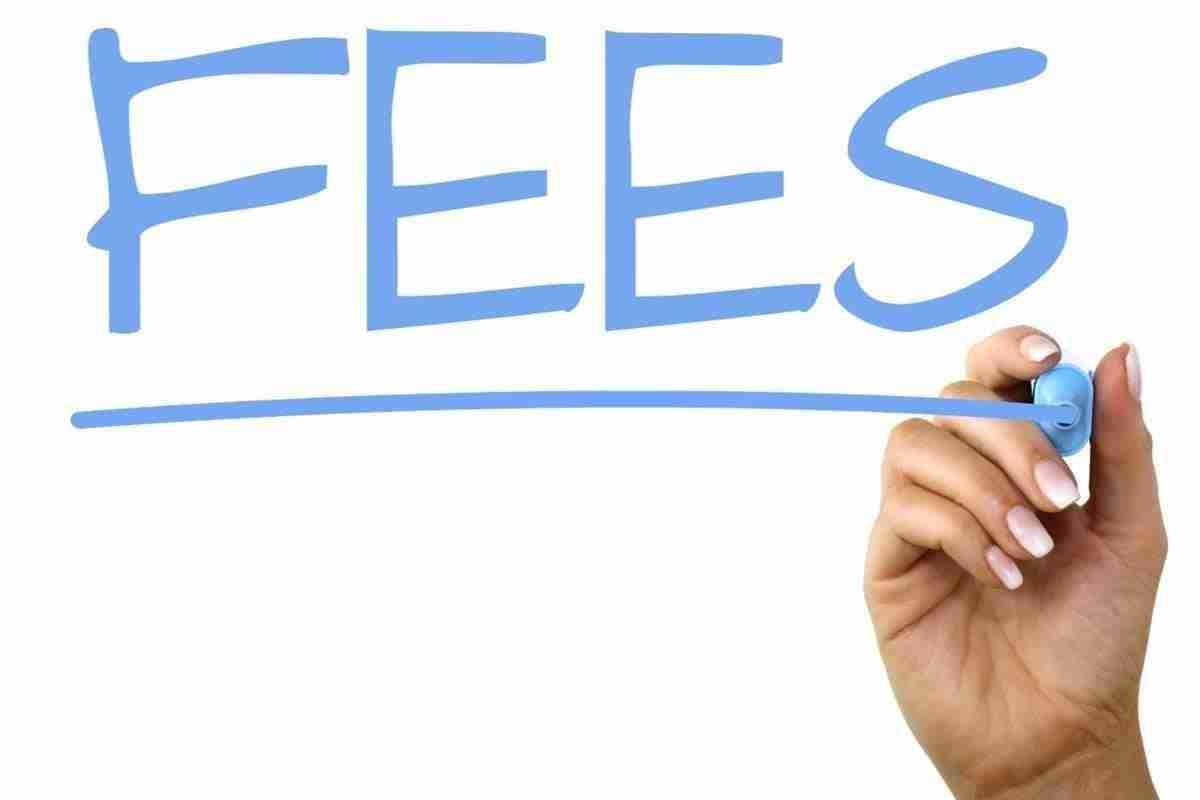 loans no fees blue writing on glass