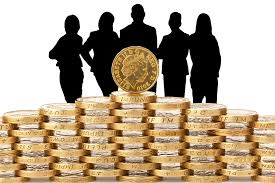 loans personal bad credit stack of coins with people standing behind