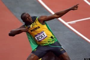 Olympic Cash Loans Usain Bolt pointing