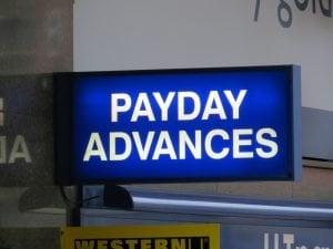 payday loan no guarantor payday advances shop sign