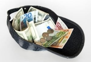 payday loans for poor credit cash notes in baseball hat
