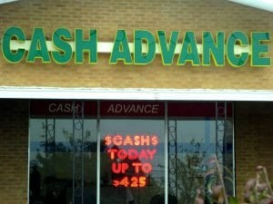 cash advance shop front