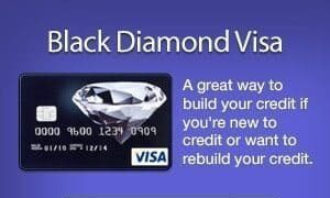 rebuilding credit cards black diamond visa credit card
