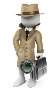 cartoon man in suit with money bag