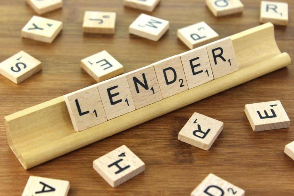 Small Cash Lender in scrabble letters