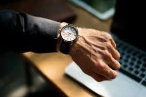 When Is The Best Time To Take Out A Loan man looking at his watch