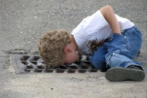 where can I get cash quick boy looking down drain