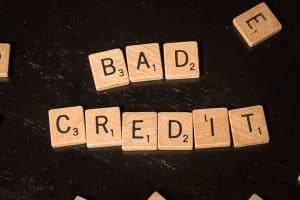 Where Can I Get A Loan With Bad Credit spelled out in scrabble letters
